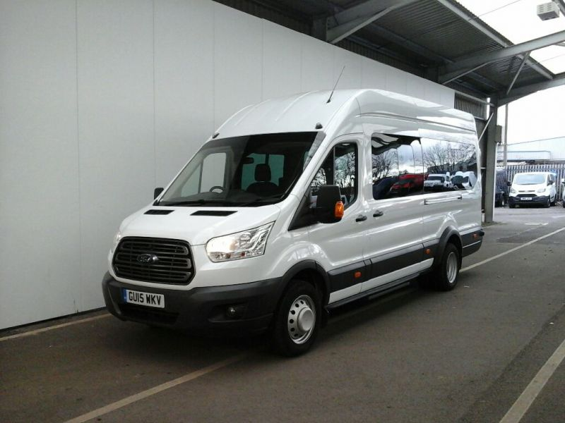 FORD TRANSIT 460 TDCI 125 L4 H3 TREND 17 SEAT BUS HIGH ROOF DRW RWD - 8845 - 1