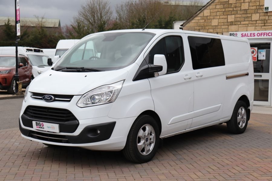 FORD TRANSIT CUSTOM 310 TDCI 130 L2H1 LIMITED DOUBLE CAB 6 SEAT CREW VAN LWB LOW ROOF FWD  (13819) - 12104 - 12