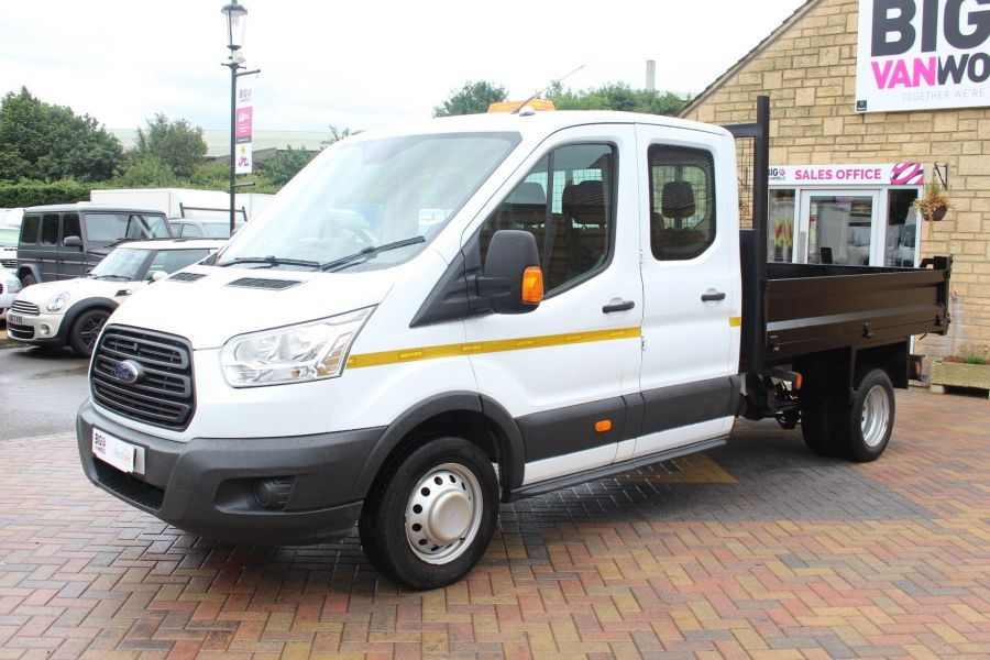 FORD TRANSIT 350 TDCI 125 L3 DOUBLE CAB STEEL TIPPER DRW - 6192 - 14