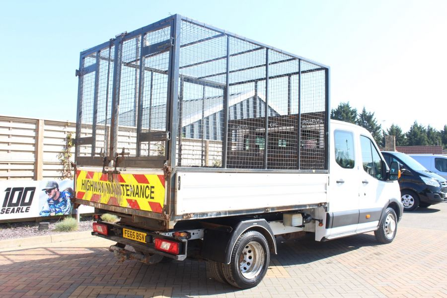FORD TRANSIT 350 TDCI 125 L3 LWB 7 SEAT DOUBLE CAB 'ONE STOP' ALLOY TIPPER WITH STEEL CAGE DRW RWD - 9150 - 14