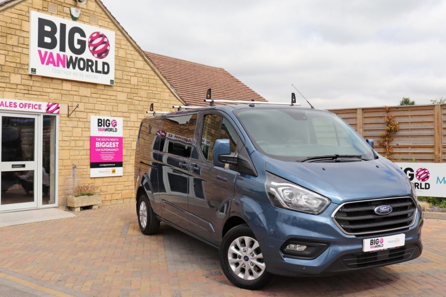 FORD TRANSIT CUSTOM 320 TDCI 130 L2 H1 LIMITED DOUBLE CAB 6 SEAT CREW VAN LWB LOW ROOF FWD - 9606 - 1