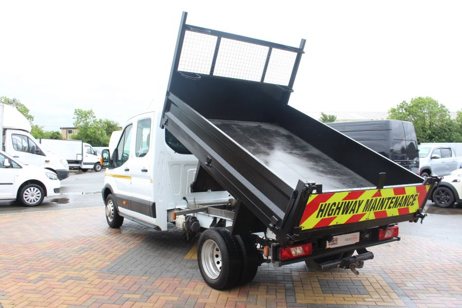 FORD TRANSIT 350 TDCI 125 L3 DOUBLE CAB STEEL TIPPER DRW - 6192 - 5