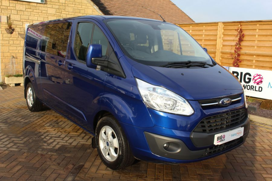 FORD TRANSIT CUSTOM 290 TDCI 125 L2 H1 LIMITED DOUBLE CAB 6 SEAT CREW VAN LWB LOW ROOF FWD  - 7113 - 3