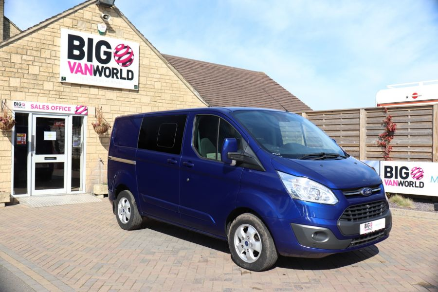 FORD TRANSIT CUSTOM 310 TDCI 130 L1H1 LIMITED DOUBLE CAB 6 SEAT CREW VAN FWD - 10553 - 2