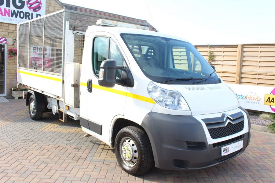 CITROEN RELAY 35 HDI 130 L3 LWB ALLOY TIPPER WITH CAGED - 8122 - 12