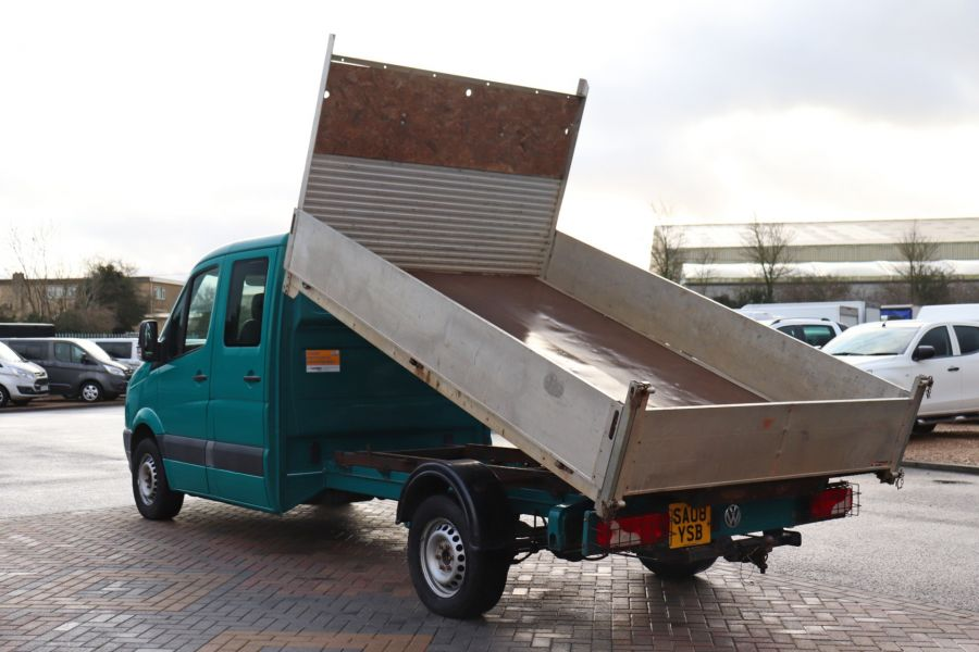 VOLKSWAGEN CRAFTER CR35 TDI 109 LWB 7 SEAT DOUBLE CAB ALLOY TIPPER - 9967 - 8