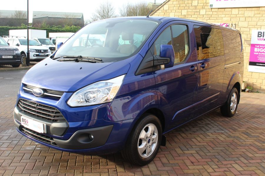 FORD TRANSIT CUSTOM 290 TDCI 125 L2 H1 LIMITED DOUBLE CAB 6 SEAT CREW VAN LWB LOW ROOF FWD  - 7113 - 8