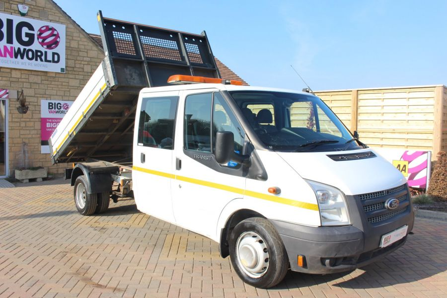 FORD TRANSIT 350 TDCI 155 LWB 6 SEAT DOUBLE CAB 'ONE STOP' ALLOY TIPPER DRW RWD - 7337 - 3