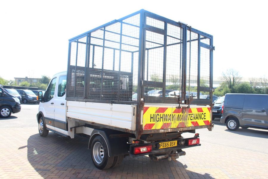 FORD TRANSIT 350 TDCI 125 L3 LWB 7 SEAT DOUBLE CAB 'ONE STOP' ALLOY TIPPER WITH STEEL CAGE DRW RWD - 9150 - 15