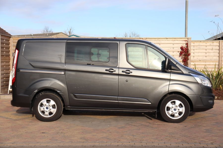 FORD TRANSIT CUSTOM 290 TDCI 130 L1H1 LIMITED DOUBLE CAB 6 SEAT CREW VAN SWB LOW ROOF - 10123 - 4
