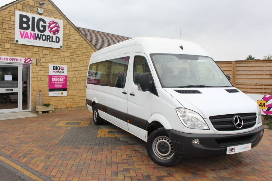 MERCEDES SPRINTER 316 CDI 163 TRAVELINER LWB 15 SEAT BUS HIGH ROOF - 8106 - 2