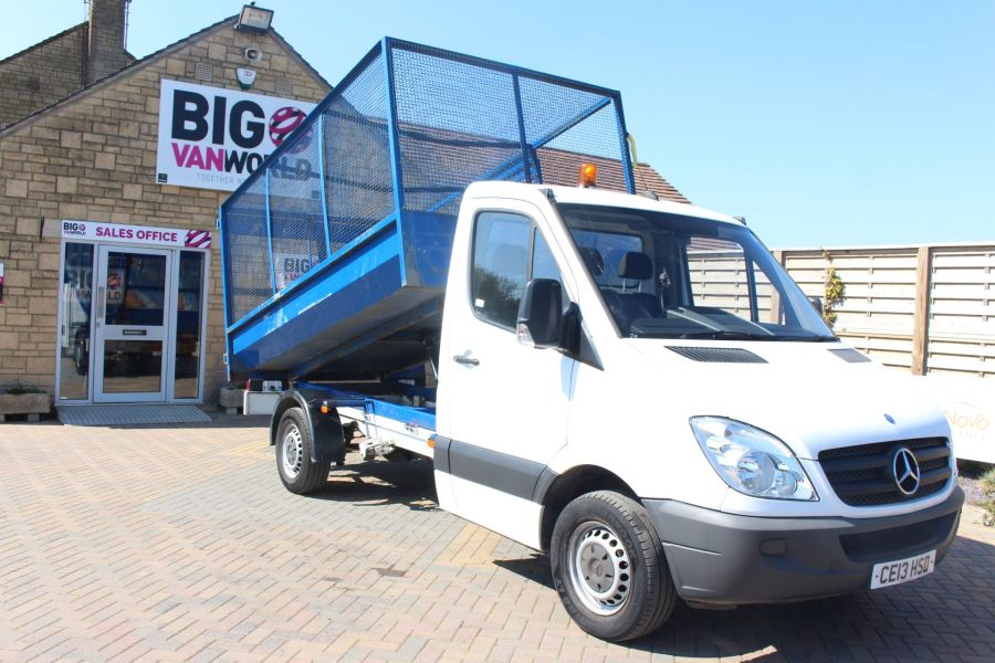 MERCEDES SPRINTER 313 CDI 129 MWB SINGLE CAB CAGED TIPPER - 9129 - 3