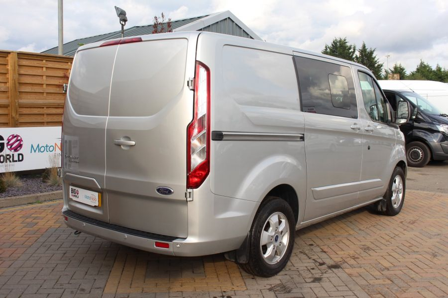 FORD TRANSIT CUSTOM 290 TDCI 125 L1 H1 LIMITED DOUBLE CAB 6 SEAT CREW VAN SWB LOW ROOF FWD - 6791 - 5