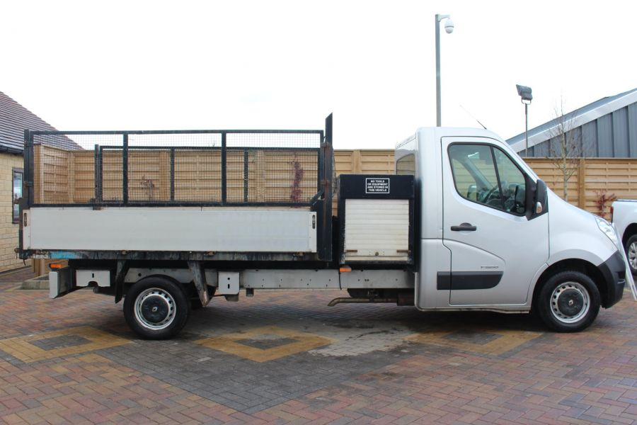 RENAULT MASTER LL35 DCI 125 LWB CAGED ALLOY TIPPER WITH SEPERATE TOOLBOX - 7124 - 8