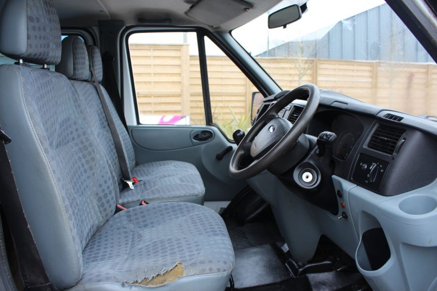 FORD TRANSIT 350 TDCI 110 LWB DOUBLE CAB HIGH SIDED ARBORIST TIPPER - 7454 - 17