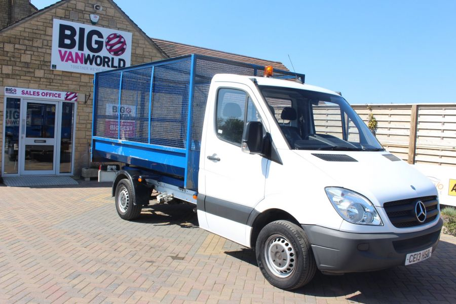 MERCEDES SPRINTER 313 CDI 129 MWB SINGLE CAB CAGED TIPPER - 9129 - 10