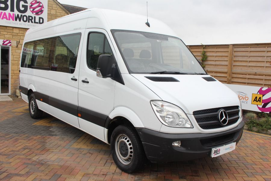 MERCEDES SPRINTER 316 CDI 163 TRAVELINER LWB 15 SEAT BUS HIGH ROOF - 8106 - 1