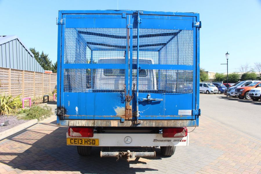 MERCEDES SPRINTER 313 CDI 129 MWB SINGLE CAB CAGED TIPPER - 9129 - 14