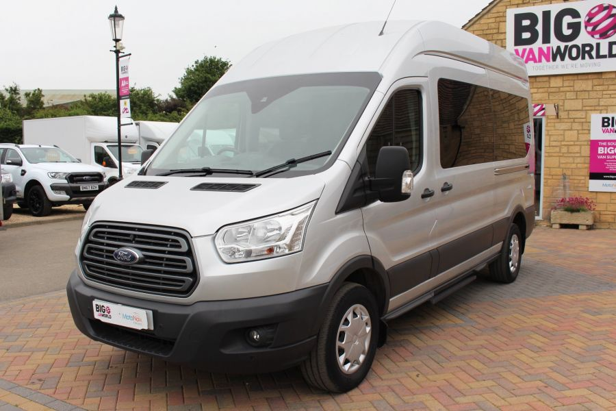 FORD TRANSIT 410 TDCI 155 L3 H3 TREND 15 SEAT BUS LWB HIGH ROOF RWD - 9126 - 9