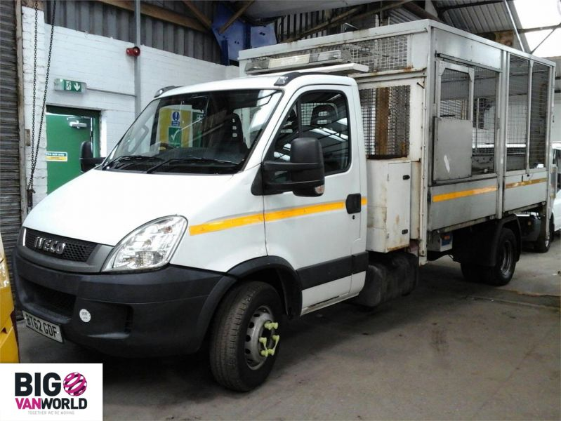 IVECO DAILY 70C18 3450 WB SINGLE CAB ALLOY CAGED TIPPER WITH TAIL LIFT - 9614 - 4