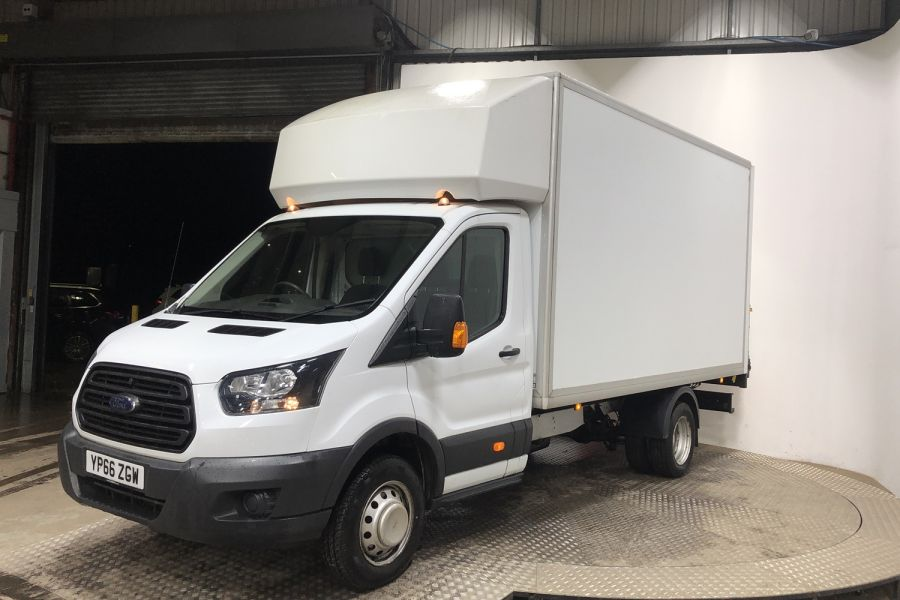 FORD TRANSIT 350 TDCI 130 L4 XLWB 'ONE STOP' LUTON VAN WITH TAIL LIFT DRW RWD - 12134 - 4