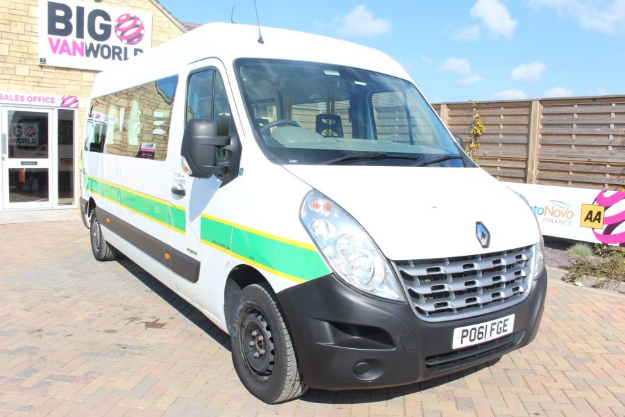 RENAULT TRUCKS MASTER LM35 DCI 100 L3 H2 8 SEAT PASSENGER TRANSPORT BUS AMBULANCE WITH WHEELCHAIR ACCESS LWB MEDIUM ROOF - 9138 - 1