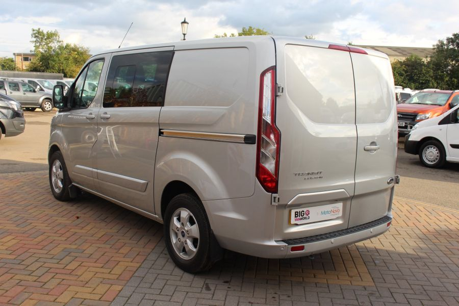 FORD TRANSIT CUSTOM 290 TDCI 125 L1 H1 LIMITED DOUBLE CAB 6 SEAT CREW VAN SWB LOW ROOF FWD - 6791 - 7