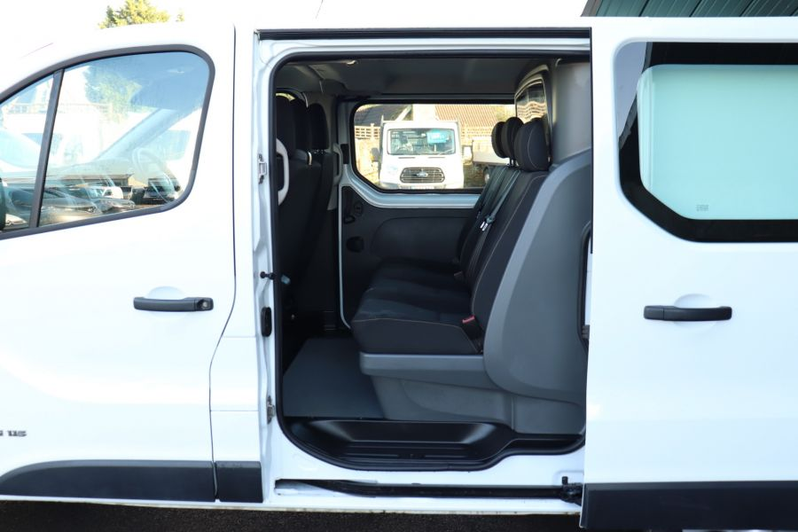 RENAULT TRAFIC SL27 DCI 115 BUSINESS SWB DOUBLE CAB 6 SEAT CREW VAN LOW ROOF  - 10282 - 28