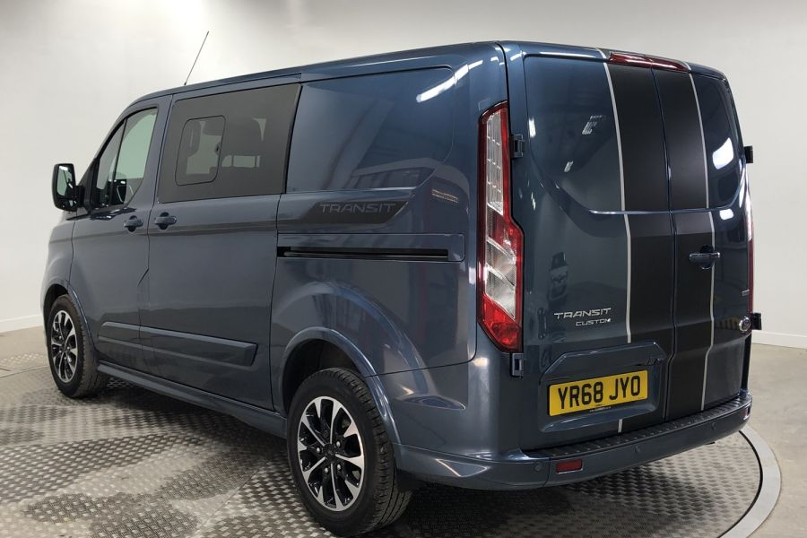 FORD TRANSIT CUSTOM 310 TDCI 170 L1H1 SPORT DOUBLE CAB 5 SEAT CREW VAN SWB LOW ROOF FWD AUTO - 12470 - 4