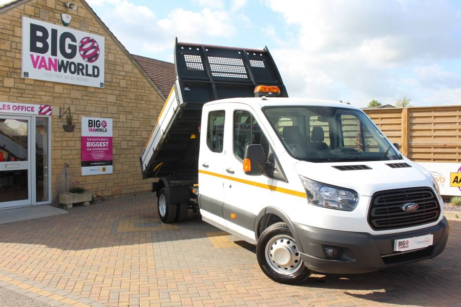 FORD TRANSIT 350 TDCI 130 L3 LWB 7 SEAT DOUBLE CAB 'ONE STOP' ALLOY TIPPER DRW RWD - 7634 - 2