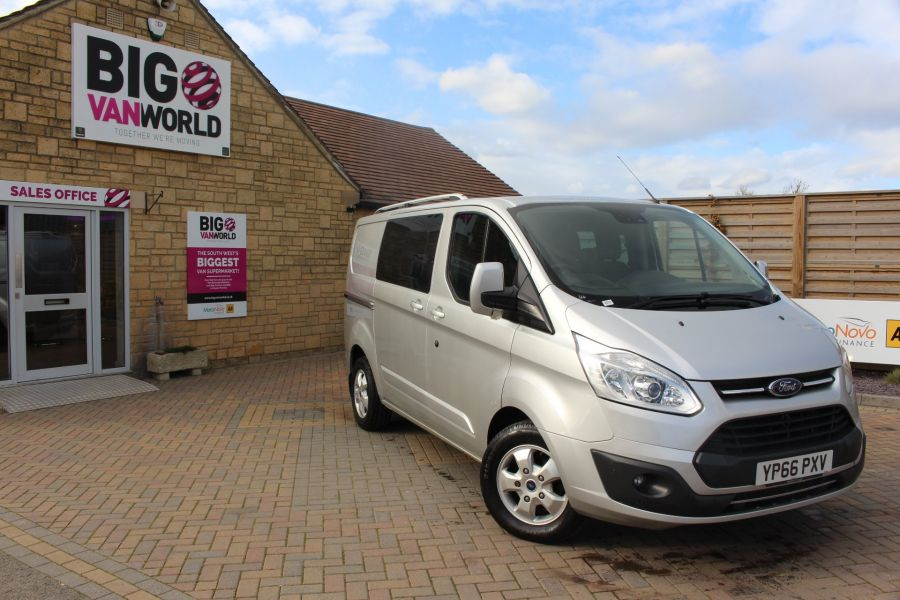 FORD TRANSIT CUSTOM 290 TDCI 170 L1 H1 LIMITED DOUBLE CAB 6 SEAT CREW VAN SWB LOW ROOF FWD  - 8973 - 2